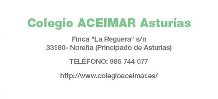 Colegio Aceimar Asturias: Datos de contacto