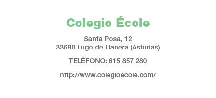 Colegio École: Datos de contacto